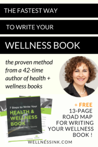 "I don't have time!"" That's the biggest lament I hear from wellness practitioners who contact me for help with writing their wellness book. Here's the fastest way to write a wellness book. #WritetoHeal #wellnessbook publish a book, authority in your niche, book coach, ghost writer, Amazon best-seller, self-publishing, author tips, healer, transform lives"