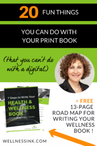 20 Fun things you can do with a print book (that you can't do with a digital version) Back in the day, printing your book was the only way to get it out to the public. #WritetoHeal #author #healthcoach #healer #selfpublish